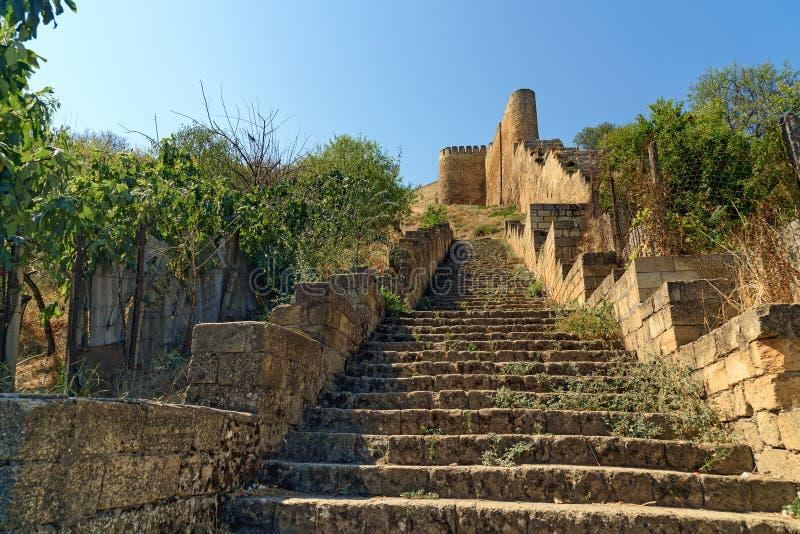 Schodki Naryn-Kala forteca Derbent obraz stock