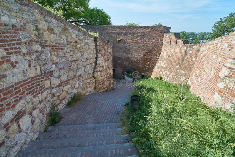 Schodki w Belgrade fortecy zdjęcia stock