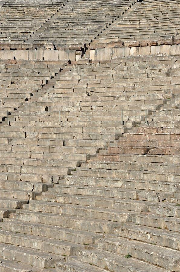 Schody amfiteatr w Grecja zdjęcia stock