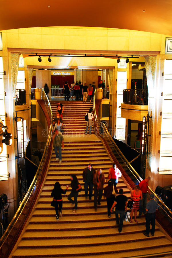 Schody, Dolby teatr, Hollywood obraz stock