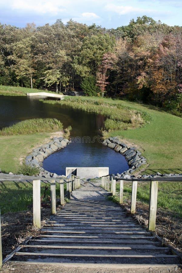Schody jezioro obraz stock