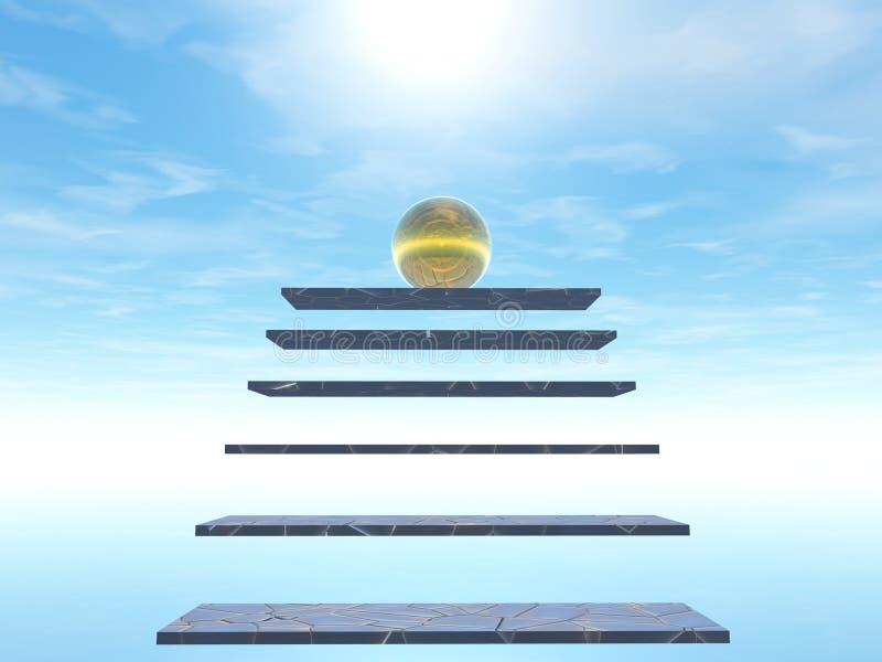 schody niebo royalty ilustracja