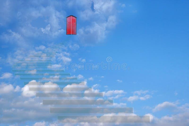 schody niebo ilustracja wektor