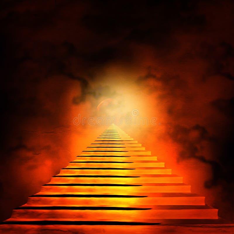 Schody prowadzi niebo lub piekło ilustracji