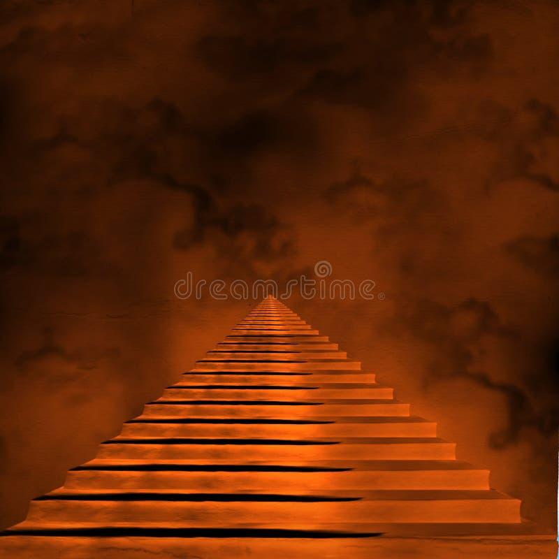 Schody prowadzi niebo lub piekło royalty ilustracja