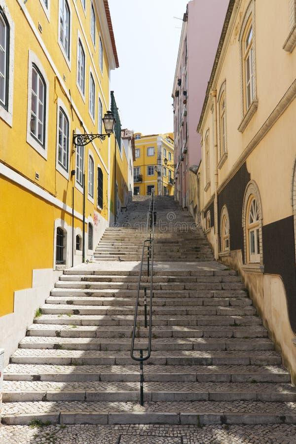 Schody przy Lisbon fotografia stock
