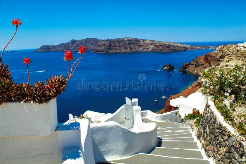 Schody raj - Santorini obrazy stock