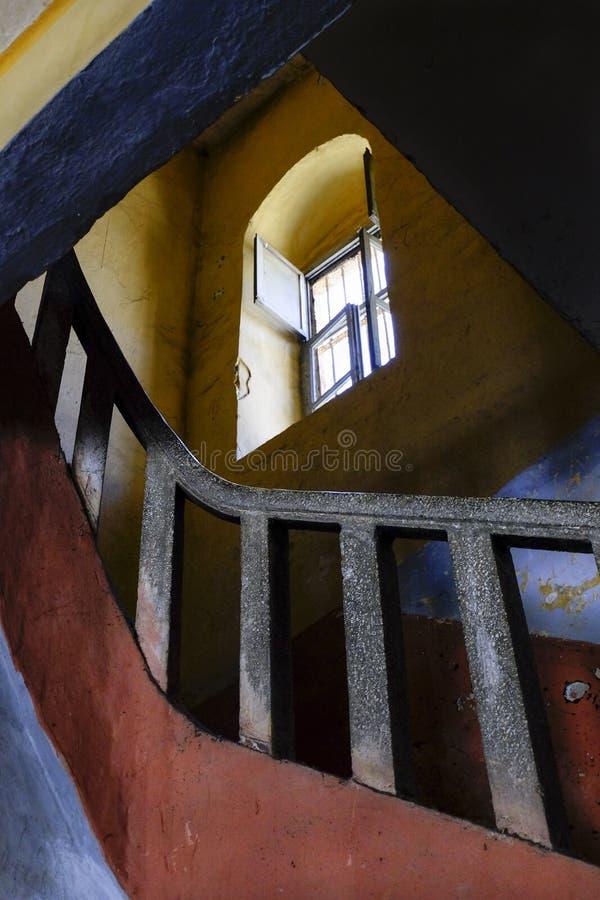 Schody wśrodku Amasra więzienia obraz stock