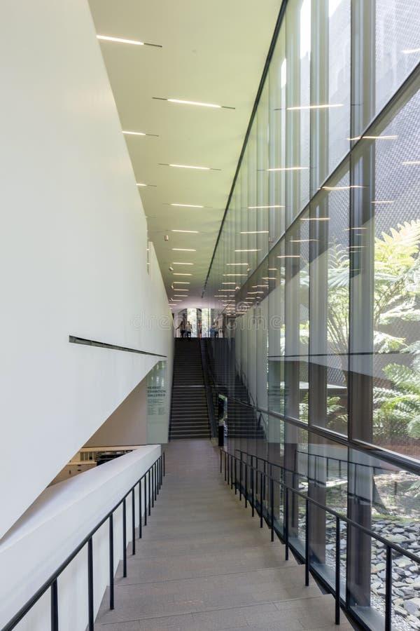 Schody wśrodku De Potomstwo Muzeum zdjęcie stock