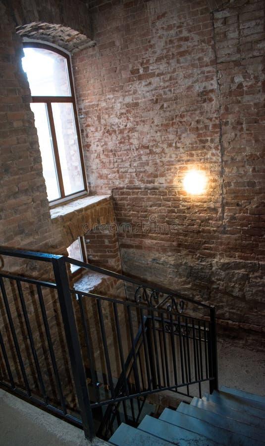 Schody w starym budynku xix wiek obraz stock