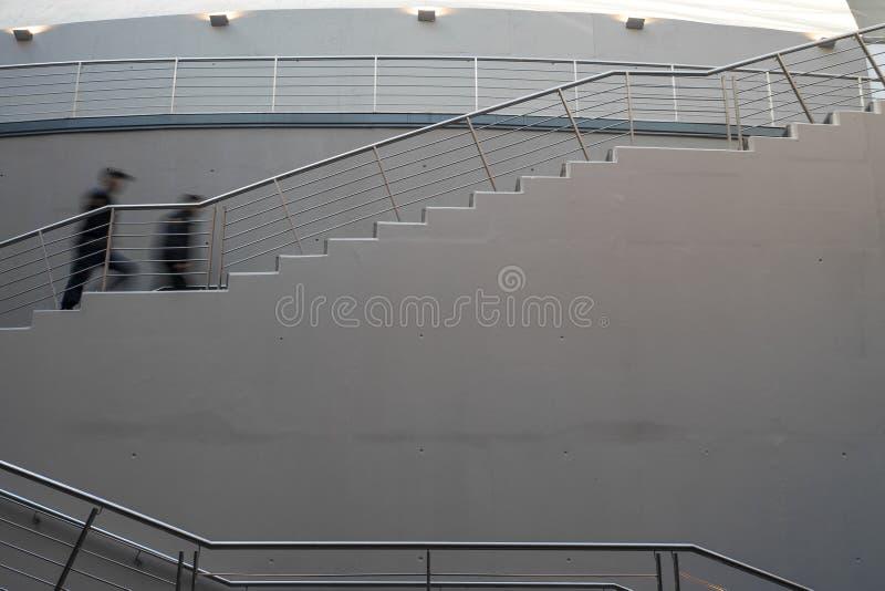 Schody w wielkiej środkowej sali w Usina Del Arte Kulturalny centrum, los angeles Boca, Buenos Aires, Argentyna Włoszczyzna proje obraz stock