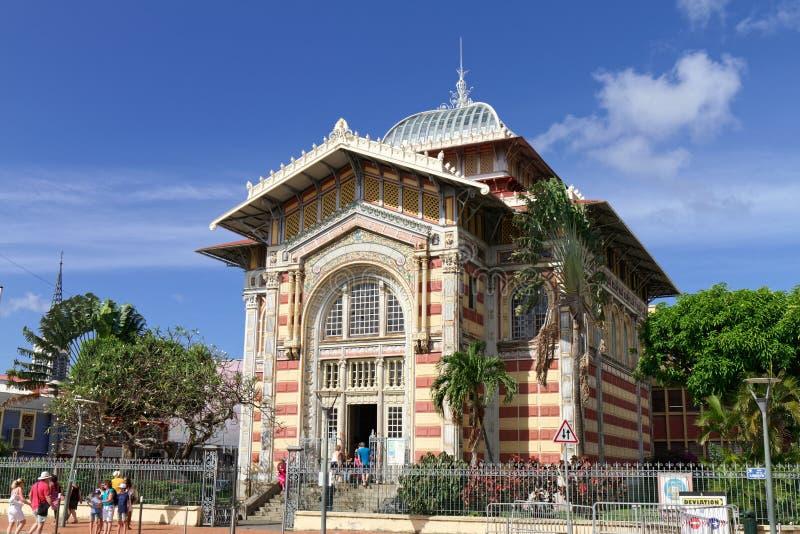 Schoelcher arkiv - Fort de France - Martinique arkivbild