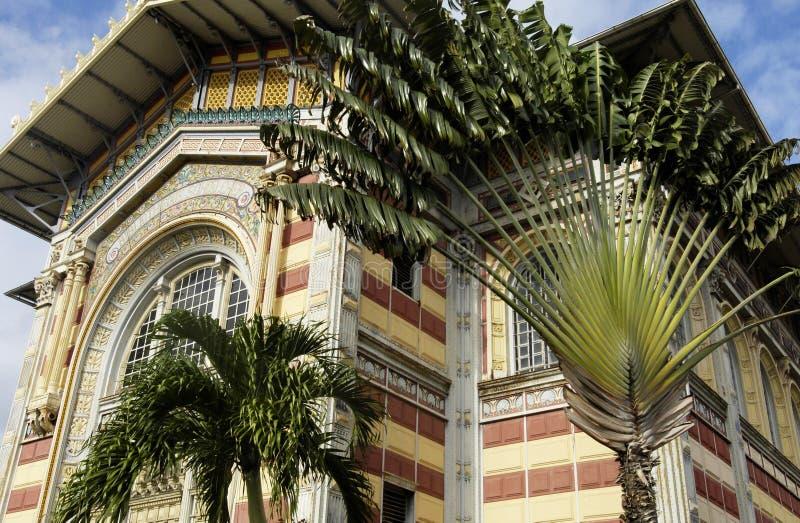 Schoelcher arkiv i Fort de France i Martinique arkivfoto