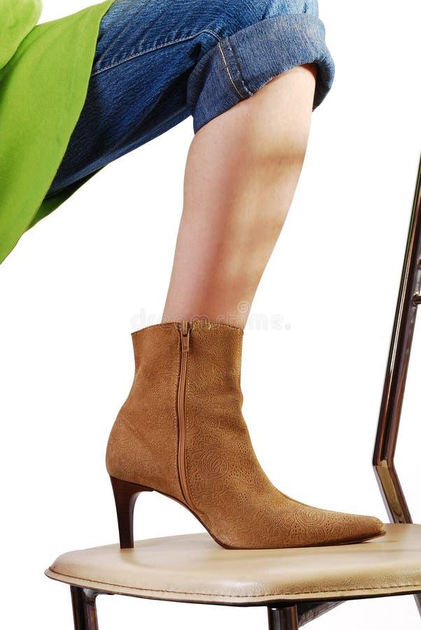 Schoen te voet royalty-vrije stock afbeelding