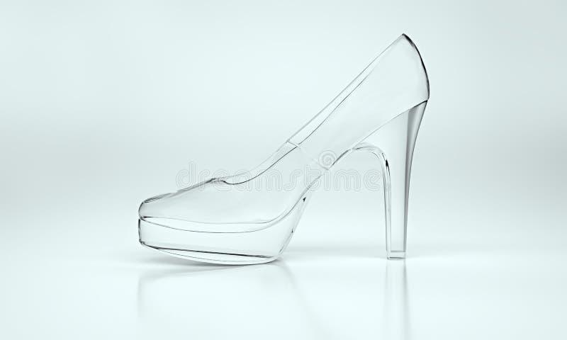 Schoen van glas wordt gemaakt dat stock afbeeldingen