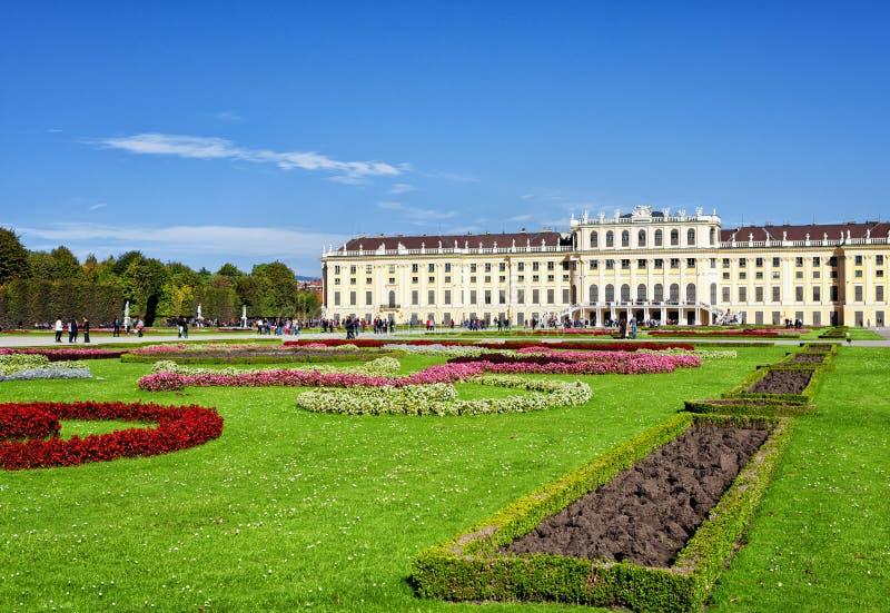 Schoenbrunn宫殿在维也纳 免版税库存照片