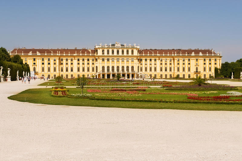 Schoenbrunn-Palast Wien, Österreich stockfotografie