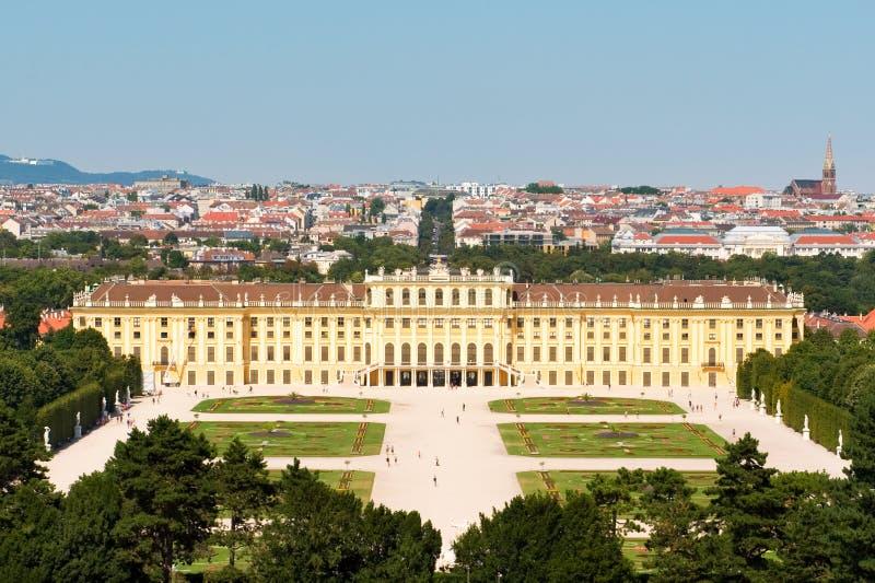 Schoenbrunn-Palast Wien, Österreich stockbild