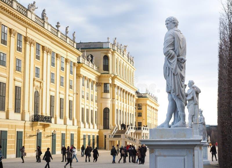 Schoenbrunn slottWien Österrike detalj arkivbilder