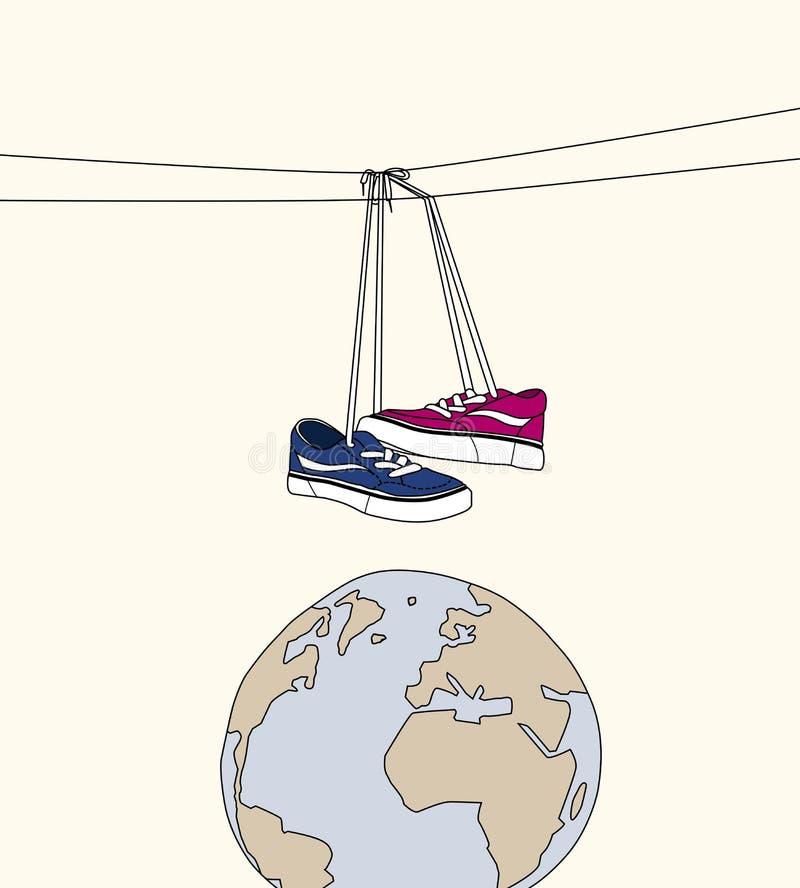 Schoenen in de ruimte stock fotografie