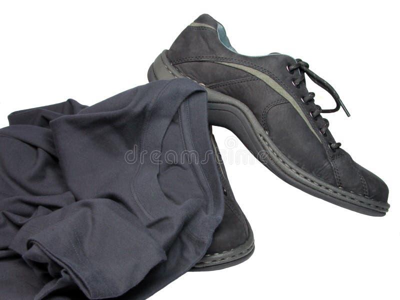 Schoenen en T-shirt royalty-vrije stock foto