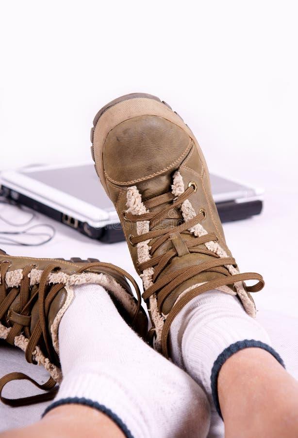 Schoenen en voeten royalty-vrije stock fotografie