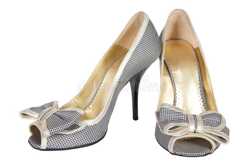 Schoenen met een boog stock foto's