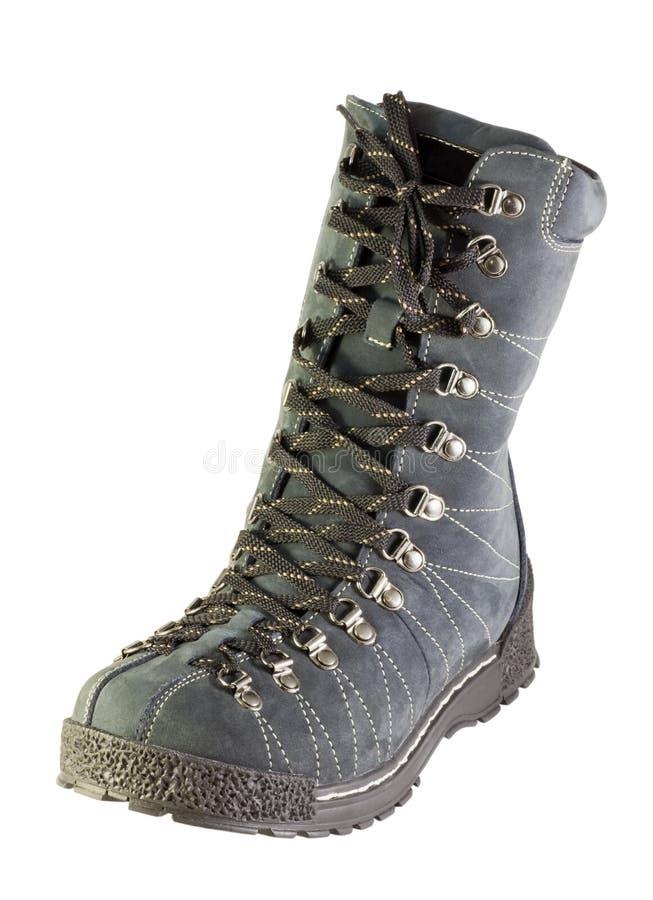 Schoenen met kant van nubuck royalty-vrije stock afbeelding
