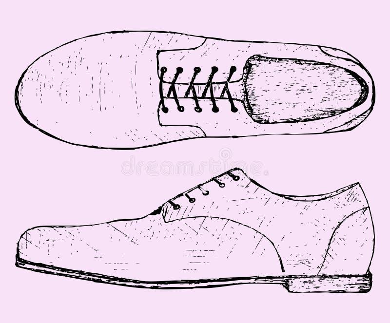 Schoenen met schoenveter royalty-vrije illustratie