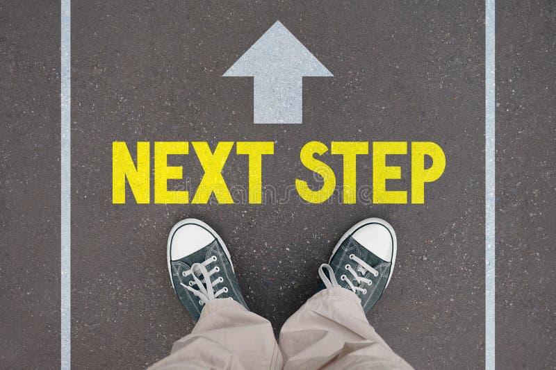 Schoenen, trainers - volgende stapconcept stock illustratie