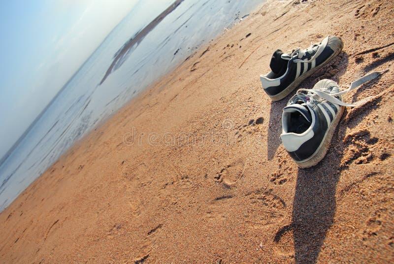 Schoenen van strand de reiziger royalty-vrije stock foto