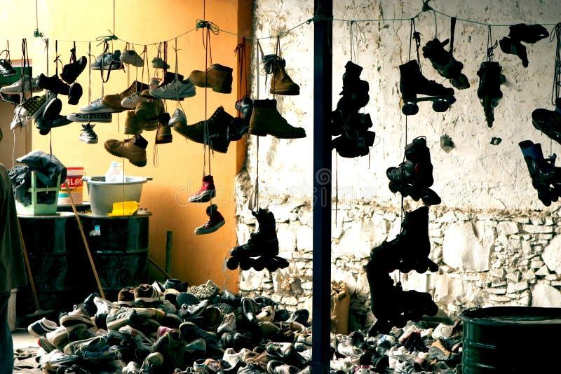 Schoenenwinkel stock afbeelding