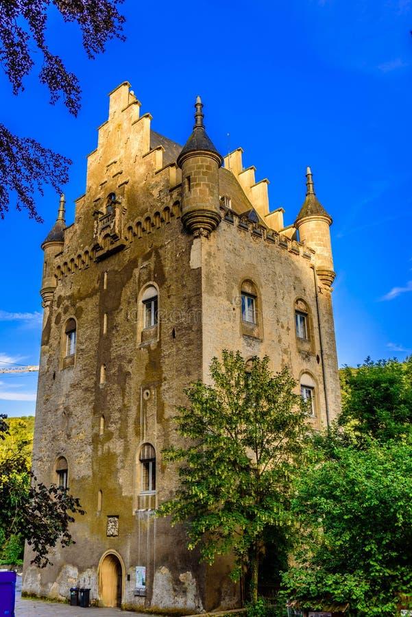 Schoenfels Castle, Schoenfels, Luxembourg stock photo