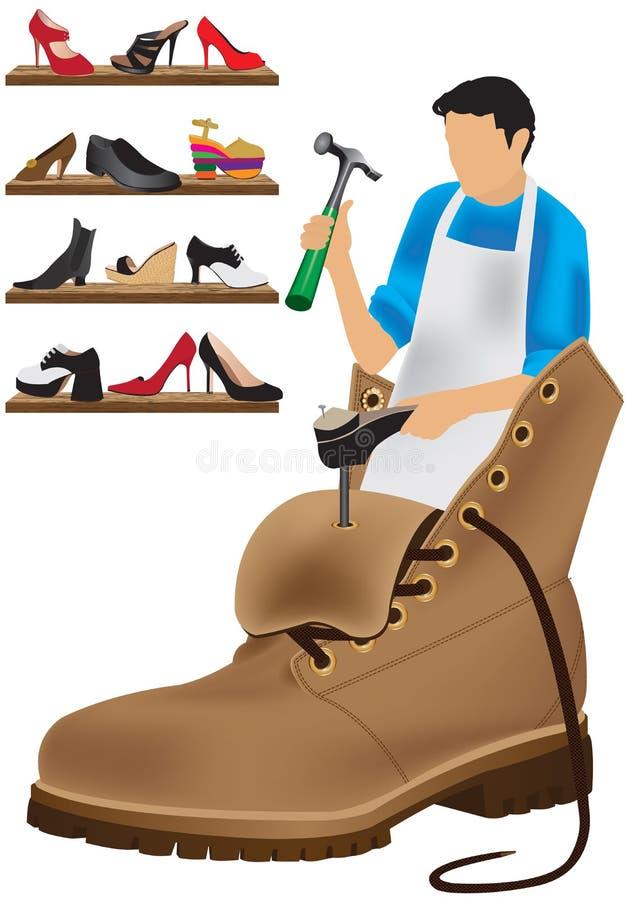 Schoenmaker royalty-vrije illustratie