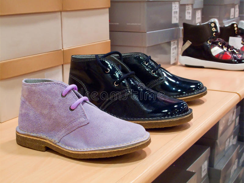 Schoes display royalty free stock image