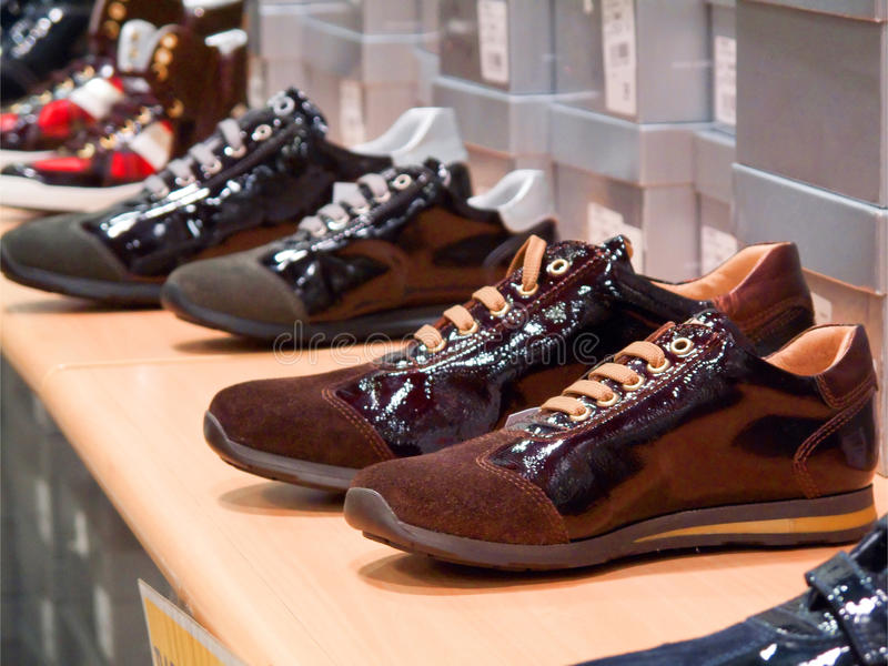 Schoes display stock photos