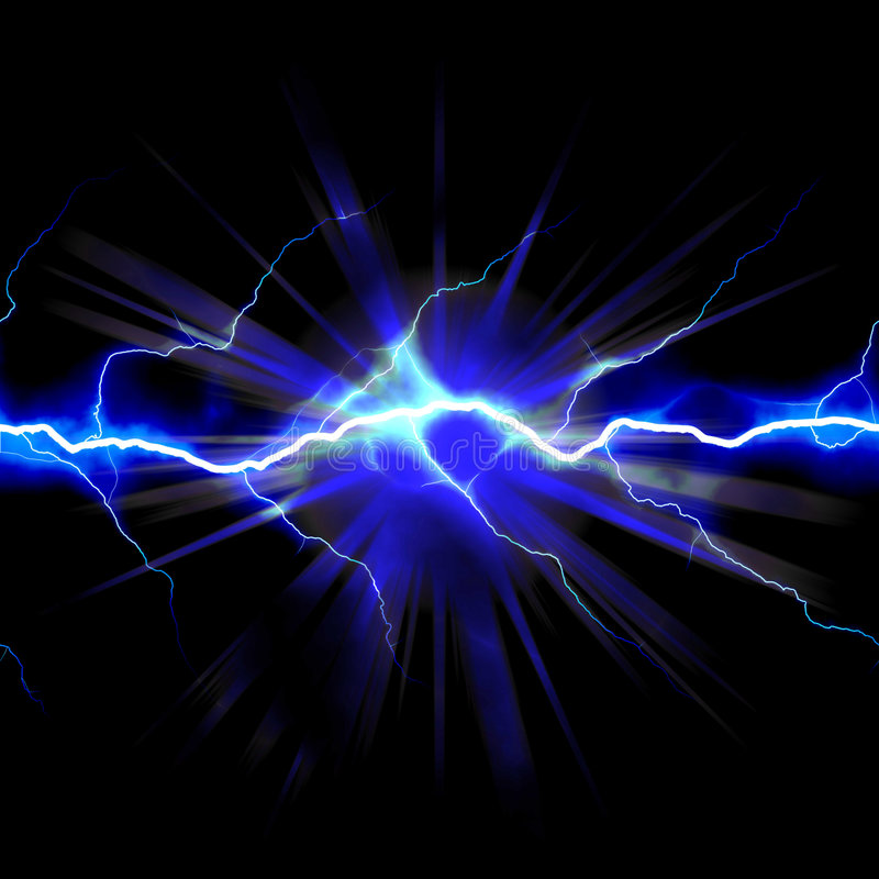 Schokierende Elektrizität stock abbildung