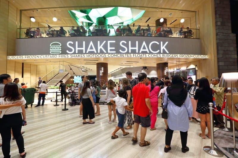 Schokkeet bij het Juweel Changi van Singapore royalty-vrije stock afbeeldingen
