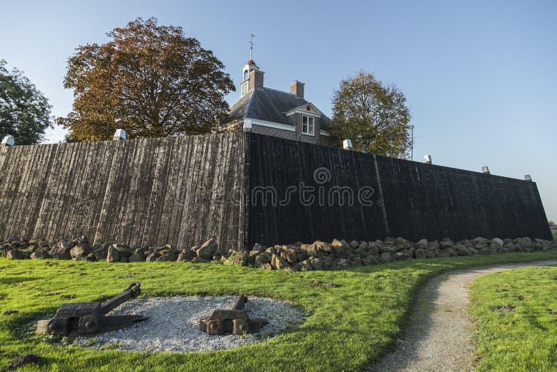 Schokland es una isla anterior en el Zuiderzee fotografía de archivo libre de regalías