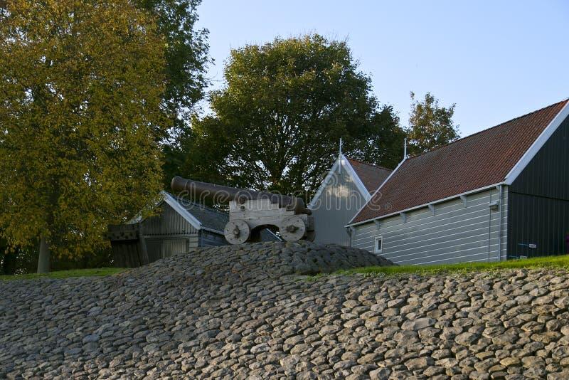 Schokland es una isla anterior en el Zuiderzee imagen de archivo libre de regalías