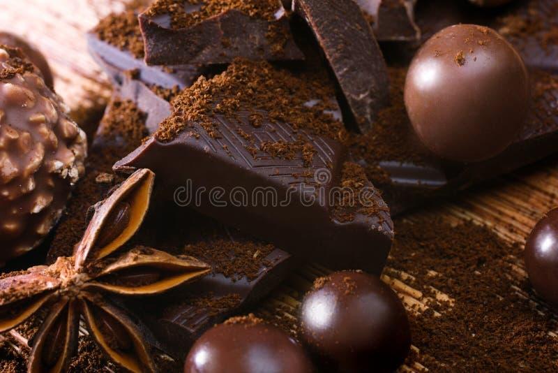 Schokolade assorttment stockbild