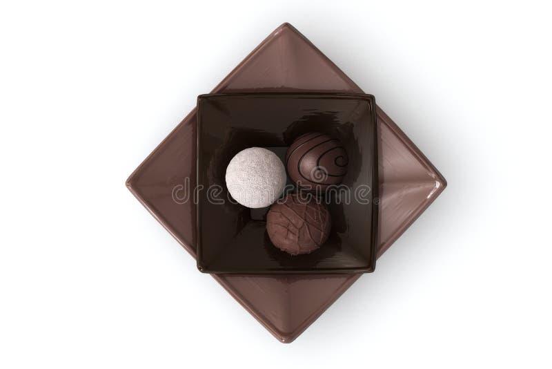 Schokolade auf Weiß lizenzfreie stockfotografie