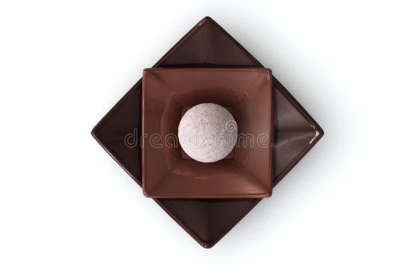 Schokolade auf Weiß lizenzfreie stockbilder