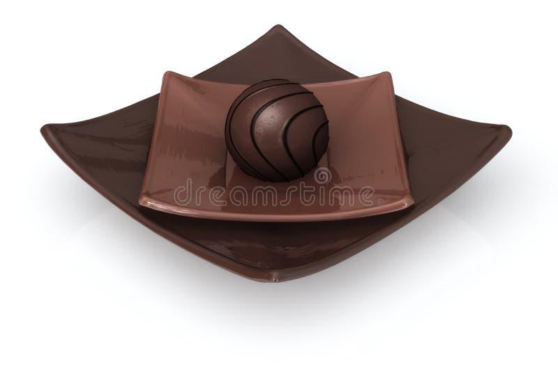 Schokolade auf Weiß stock abbildung