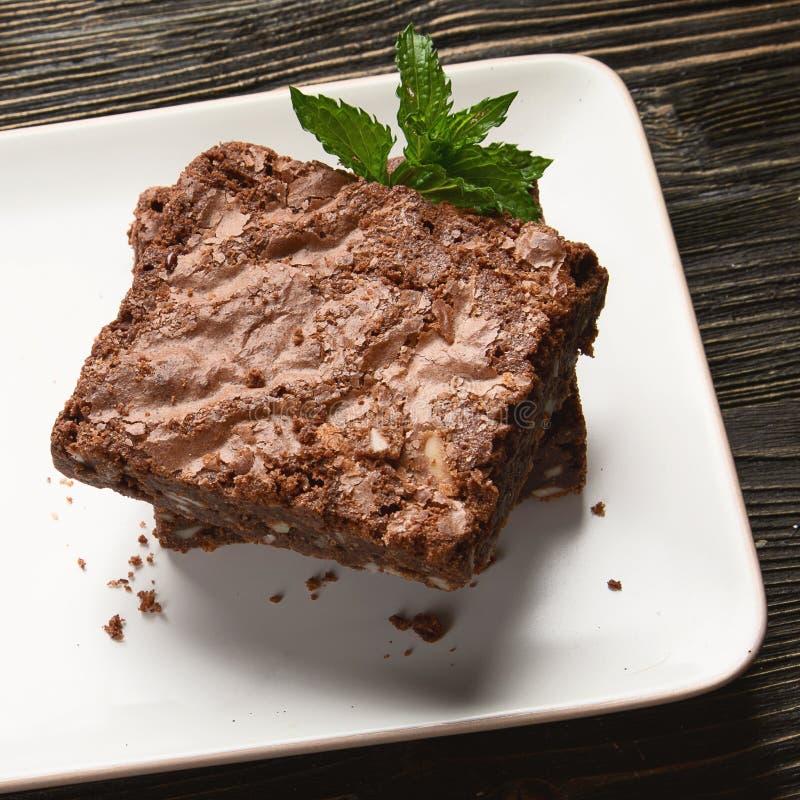 Schokolade Brownie Cake lizenzfreies stockfoto