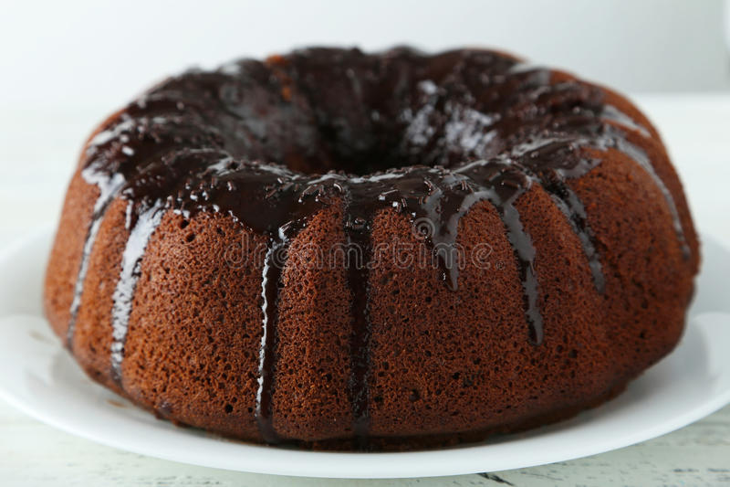 Schokolade Bundt-Kuchen stockfotos