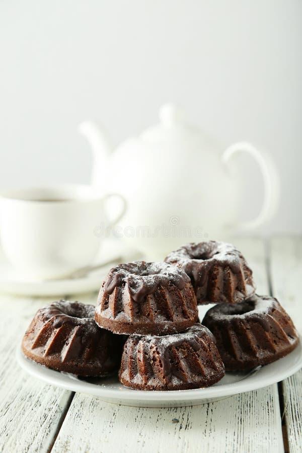 Schokolade bundt Kuchen stockfotografie