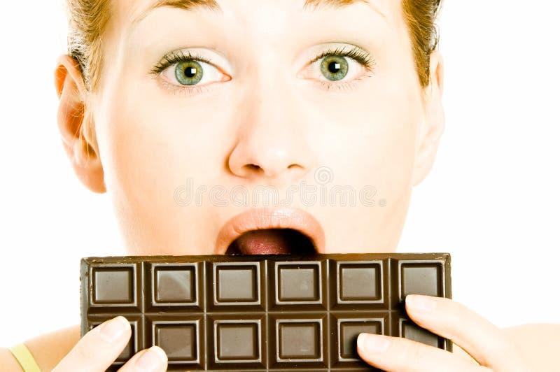 Schokolade Craving stockfotos