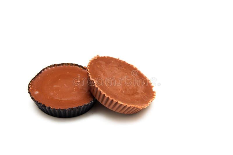 Schokolade deckte Erdnussbutter-Cup ab lizenzfreie stockfotografie