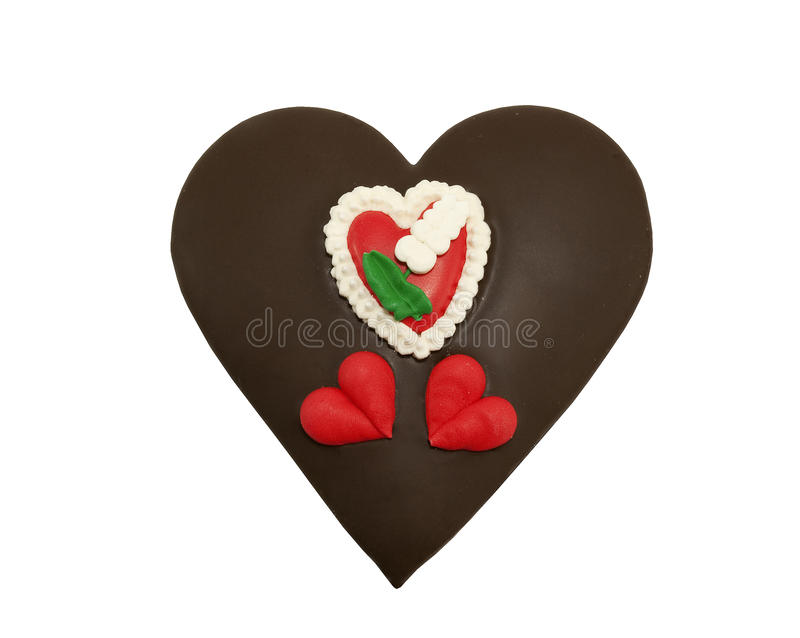 Schokolade deckte Innerplätzchen ab lizenzfreies stockfoto